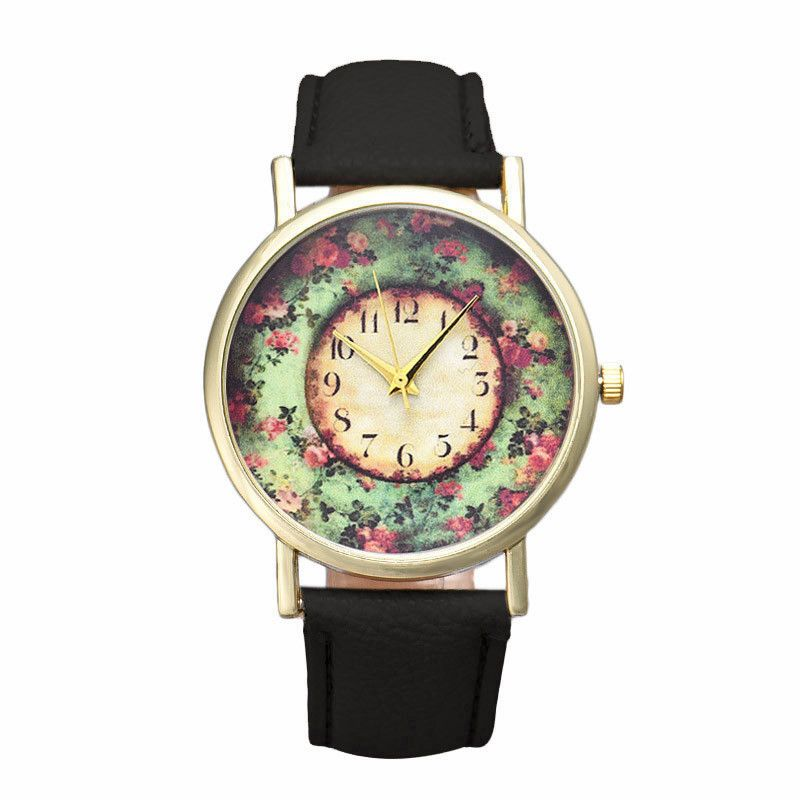 >> Click to Buy << Popular Brand Watch Relojes mujer 2016 Montre femme Pastorale Floral Women Leather Band Analog Quartz Watch Wholesale Feida #Affiliate