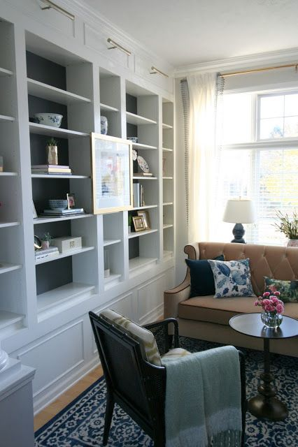 One Room Challenge  Ikea Billy Chic Living Room And Living Rooms Alluring Living Room Built Ins 2018