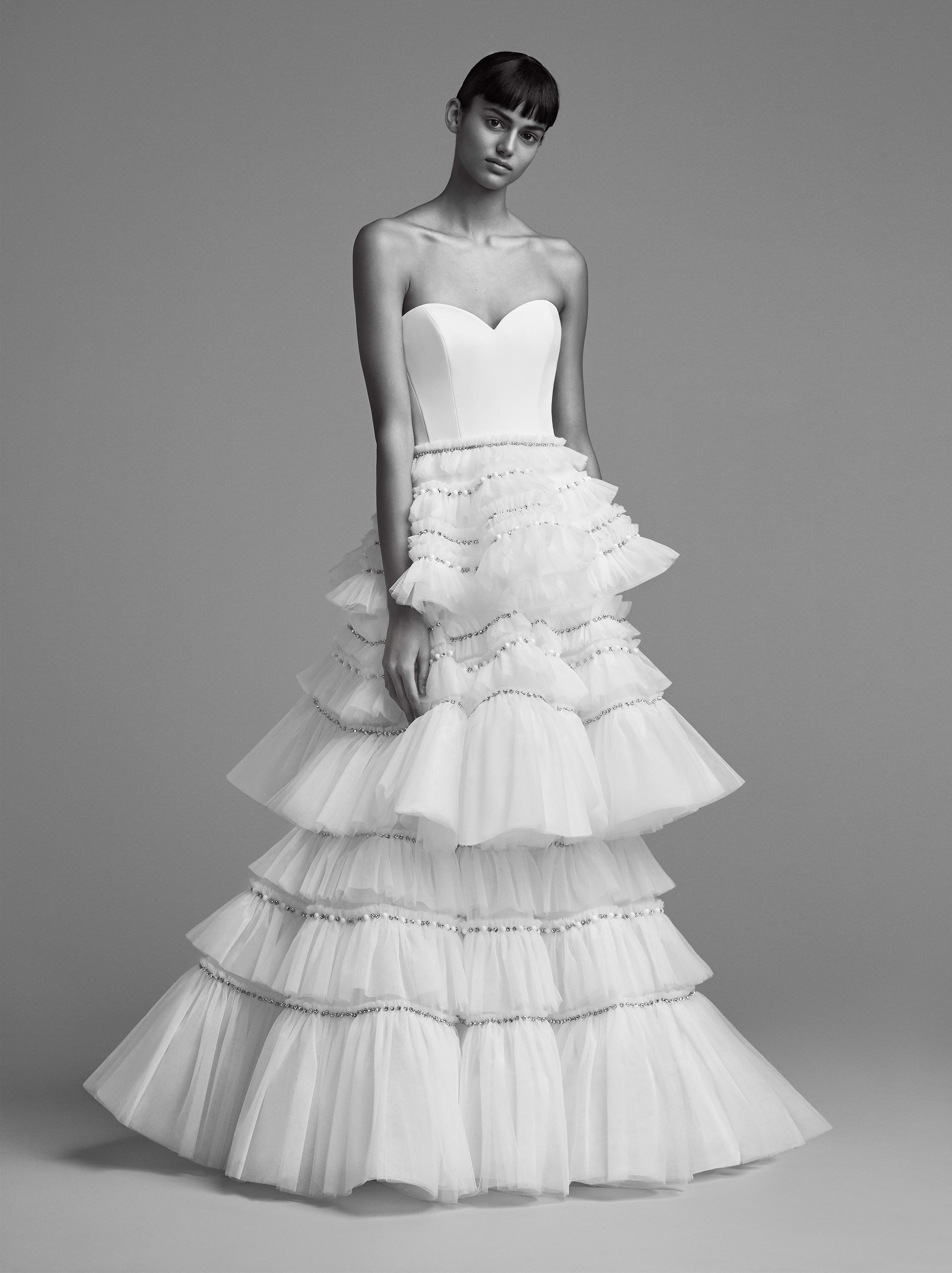 Viktor u rolf bridal fall fashion show collection here comes