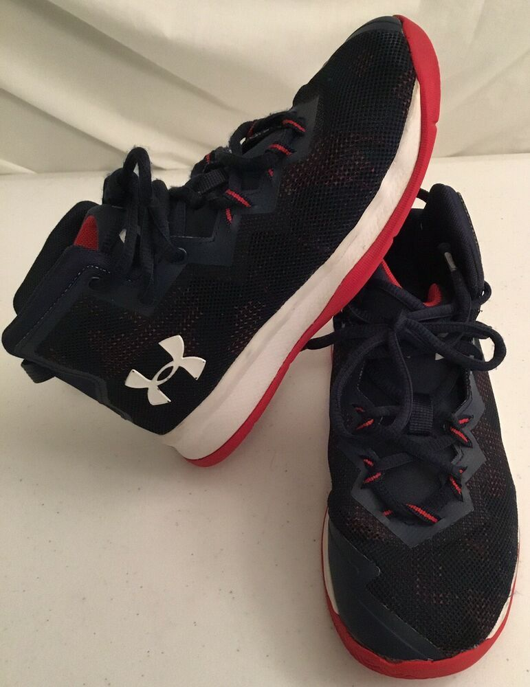 279d5a21c Under Armour Boys Size 1.5Y Lightning 4 Navy Blue Basketball Shoes Kids  Sneakers #Underarmour #BasketballShoes