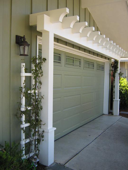 top home over garage. arbor over garage door  via Sterley Construction What Color Is Best For Garage Doors doors Arbors and