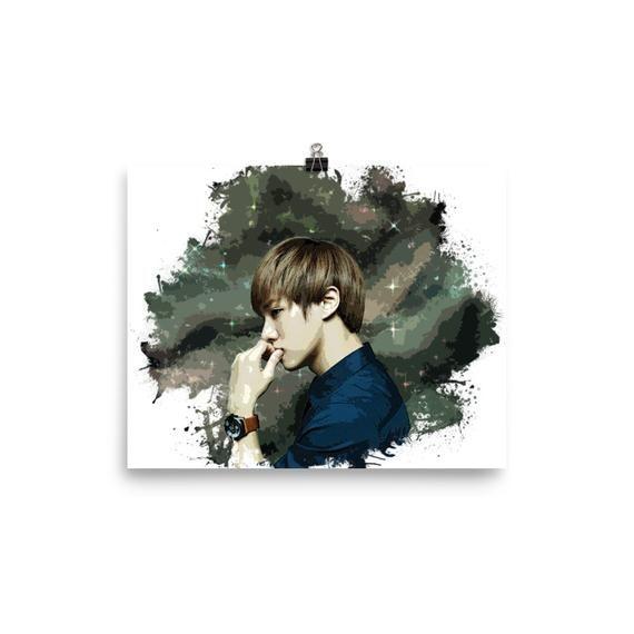 Lee Gi Kwang Gikwang Kpop Beast Watercolor Poster Poster Print