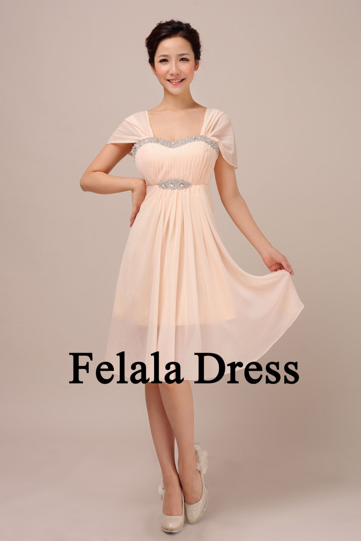 Maybe not sure bridesmaid dress short blush evening dress short