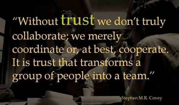 without trust we don't truly collaborate - Google Search
