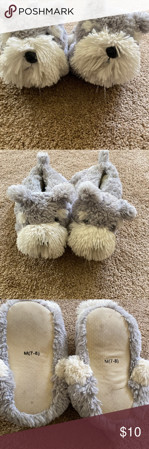 Fuzzy Slippers Size 7 8 Fuzzy Slippers Size 7 8 Shoes