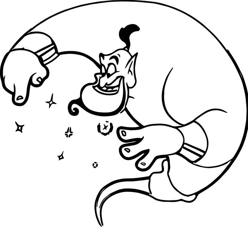 Genie Aladdin Free Coloring Page Disney Coloring Pages Free Coloring Pages Coloring Pages