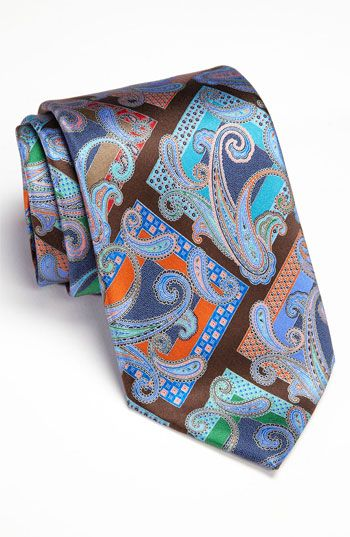 Ermenegildo Zegna 'Quindici' Print Silk Tie available at Nordstrom