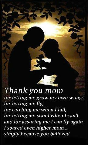 I Love You Mom With All My Heart Thanks For Everything You