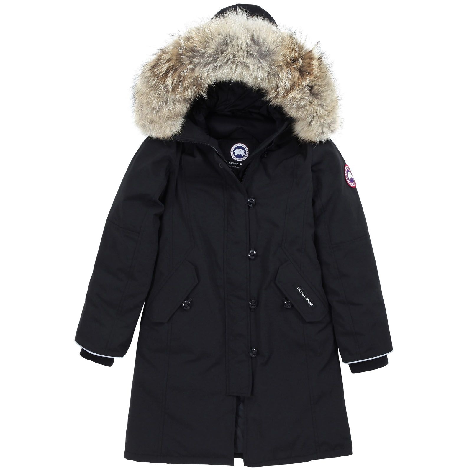 Canada Goose hats sale official - Parka longue imperm��able, capuche amovible, rembourrage en plumes ...