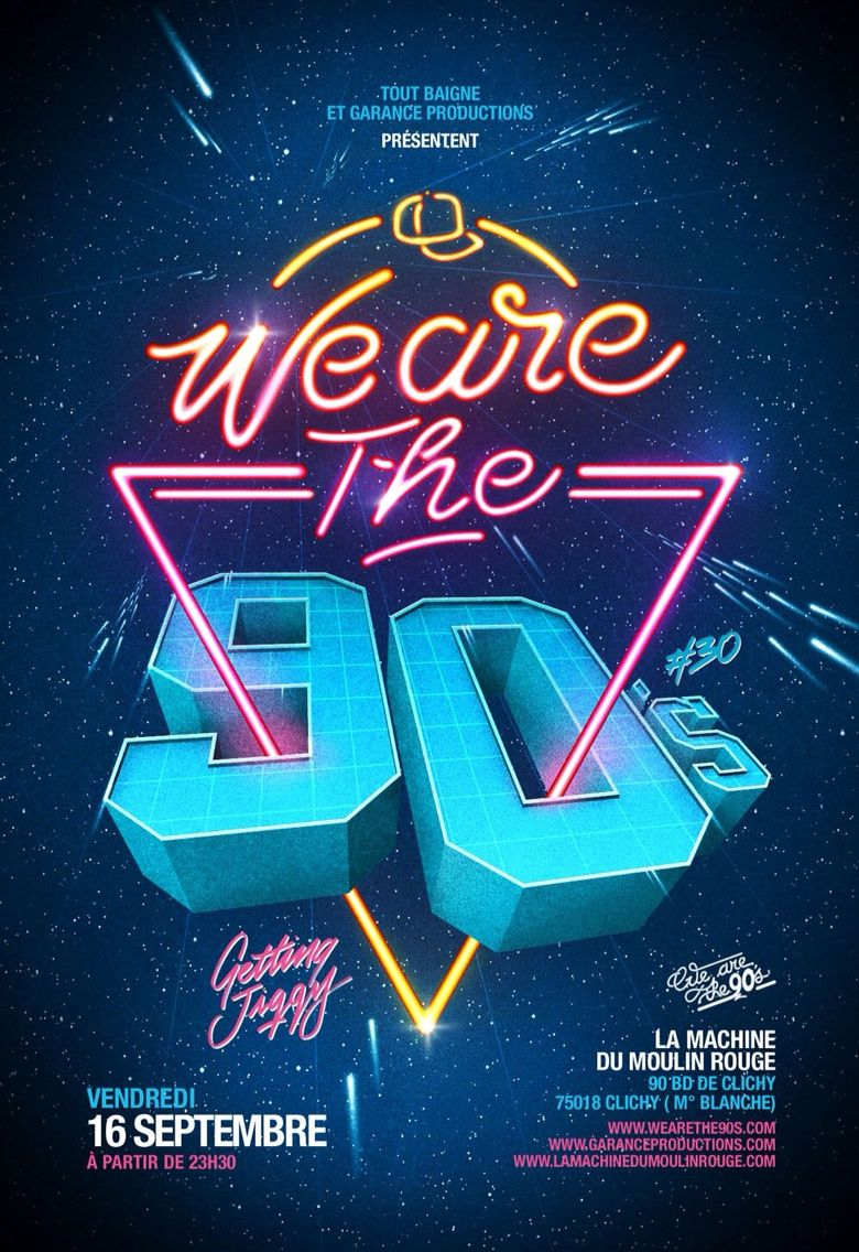 90s poster design - Poster 90s Poster
