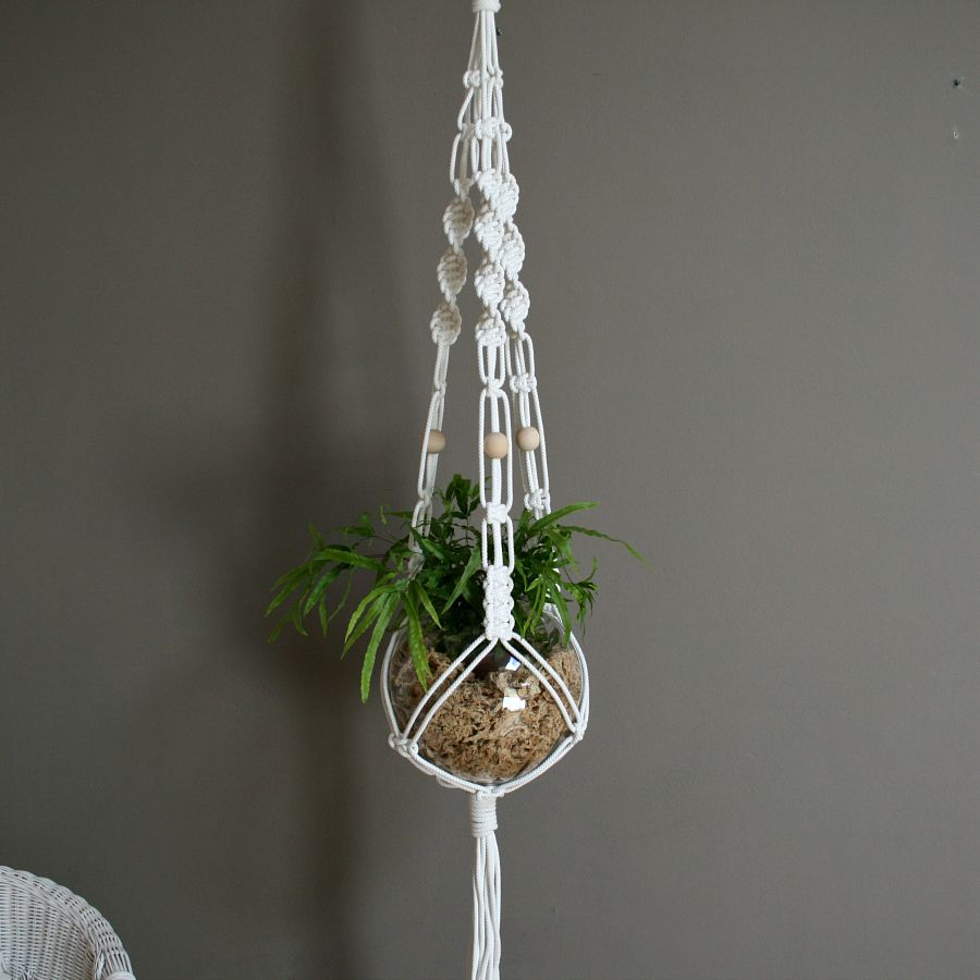 how to make macrame plant hangers the knot studio white macrame plant hanger macram 233 6629