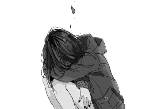 anime tumblr black and white sad - Buscar con Google ...