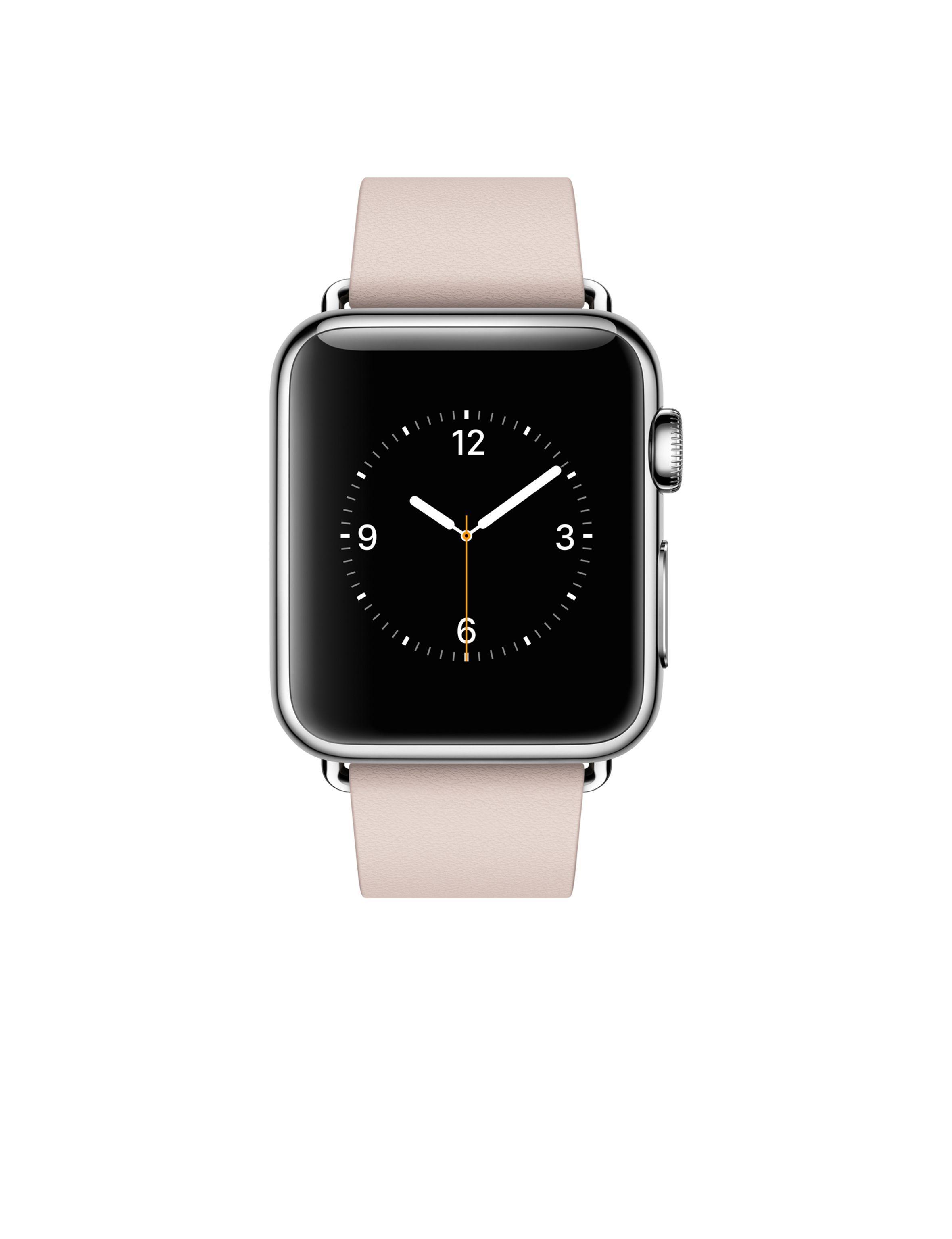 Apple Watch Caixa 38mm De Aco Inoxidavel Com Pulseira Rosa Fecho