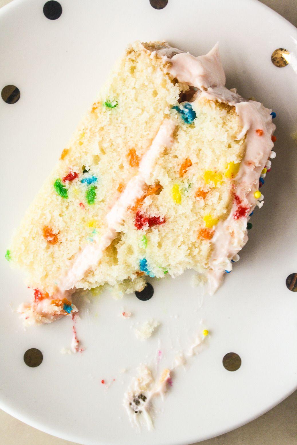 Funfetti cake with cream cheese frosting recipe