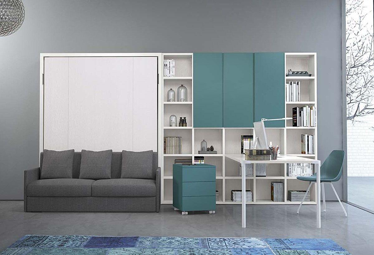 Arredo Completo Per Monolocale arredamento completo per home office: scrivania, libreria