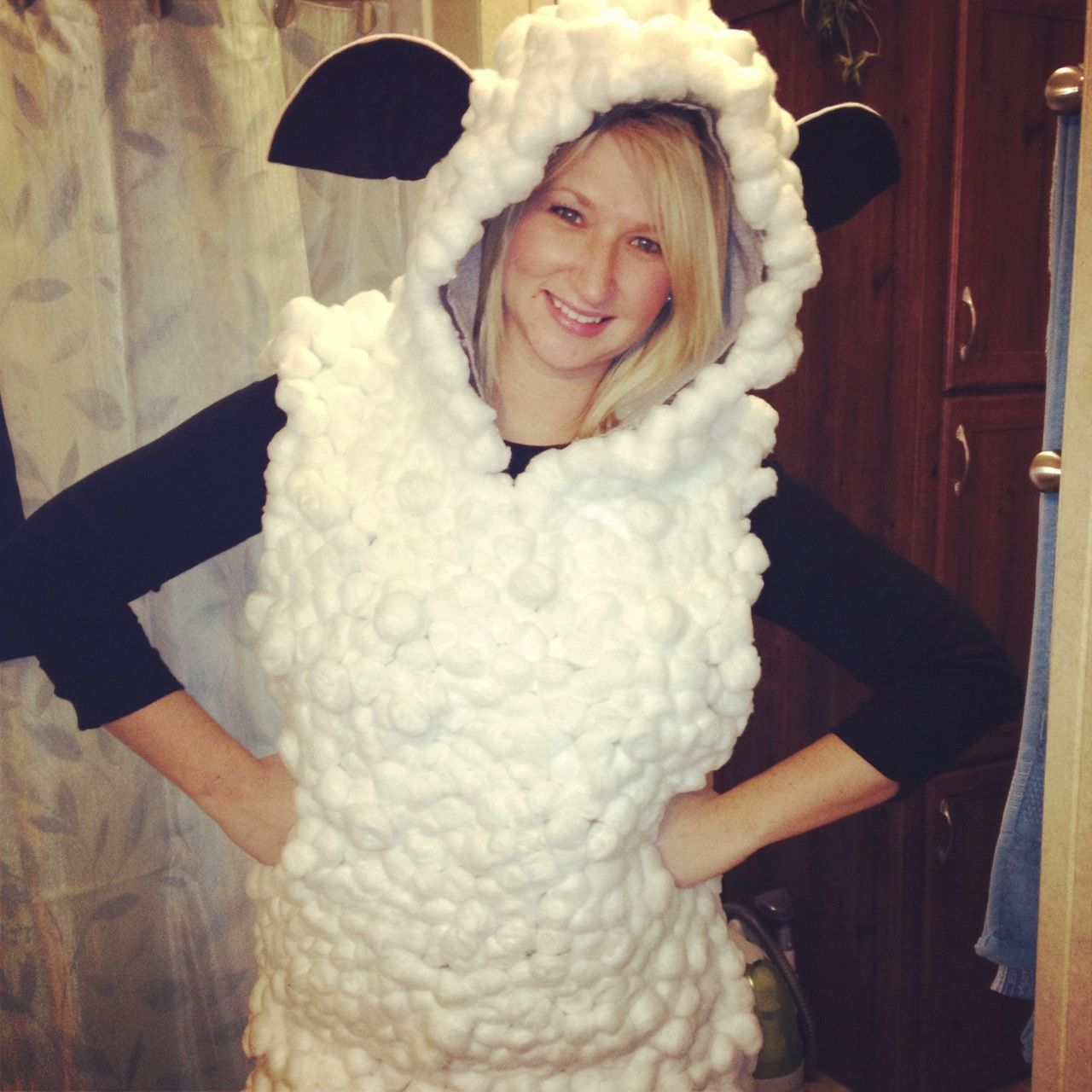 Sheep costume. Baaaaahlin. | DIY | Pinterest | Sheep costumes ...