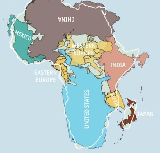 la vrai carte du monde La vraie carte de l'Afrique n'est pas celle que vous connaissez