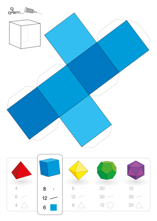 3D Square Printable - Geometry | Pinterest | Geometría, Figuras ...