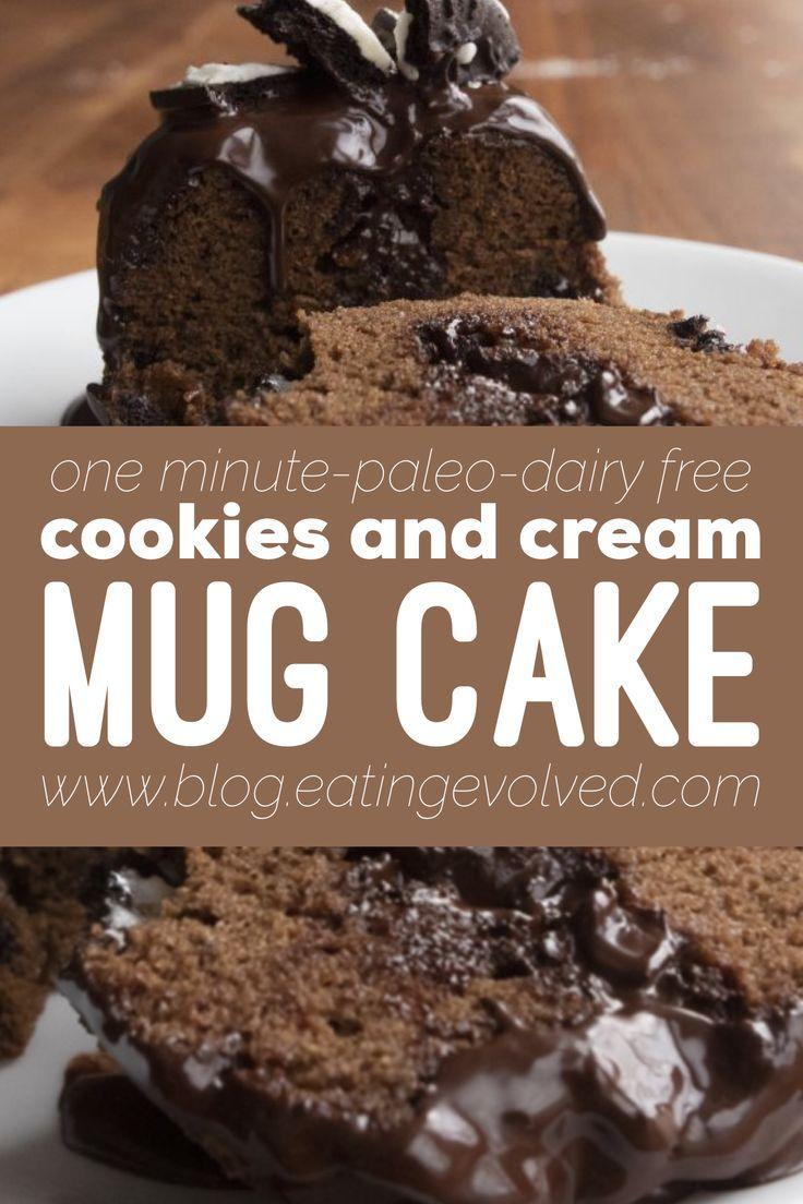 Cookies and Cream Mug Cake | Recipe | Paleo chocolate ...