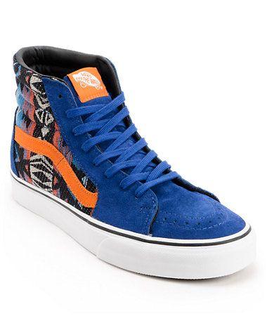 vans blauw oranje