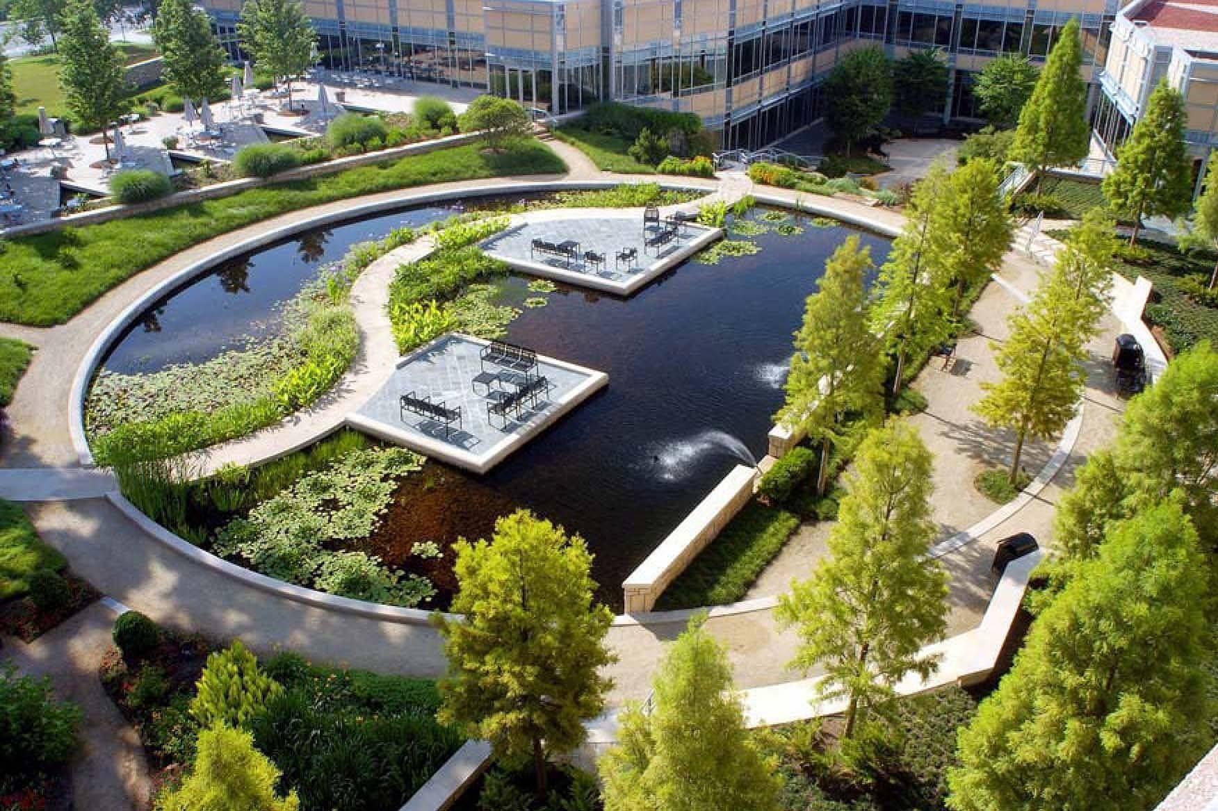 Landscape architect atlanta ga - Award Winning Office Campus Design At The Cox Enterprises Gardens In Atlanta Georgia By Hgor Landscape Architects Network
