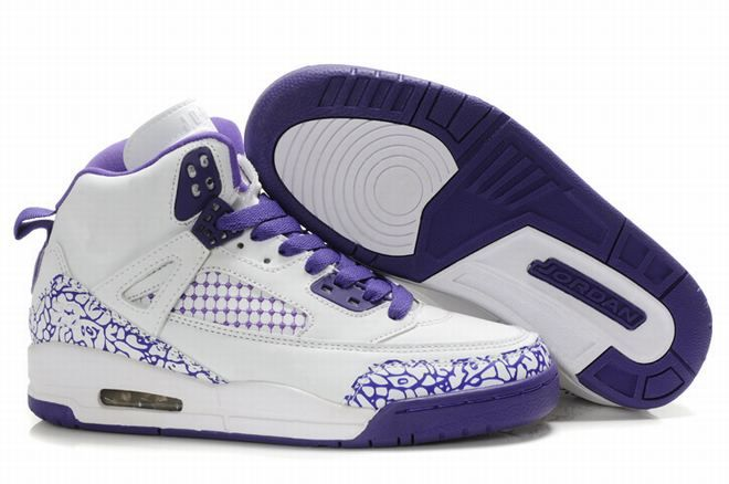 Buy 2013 New Women Air Jordans Embroidery White Purple Basketball Shoes  Store