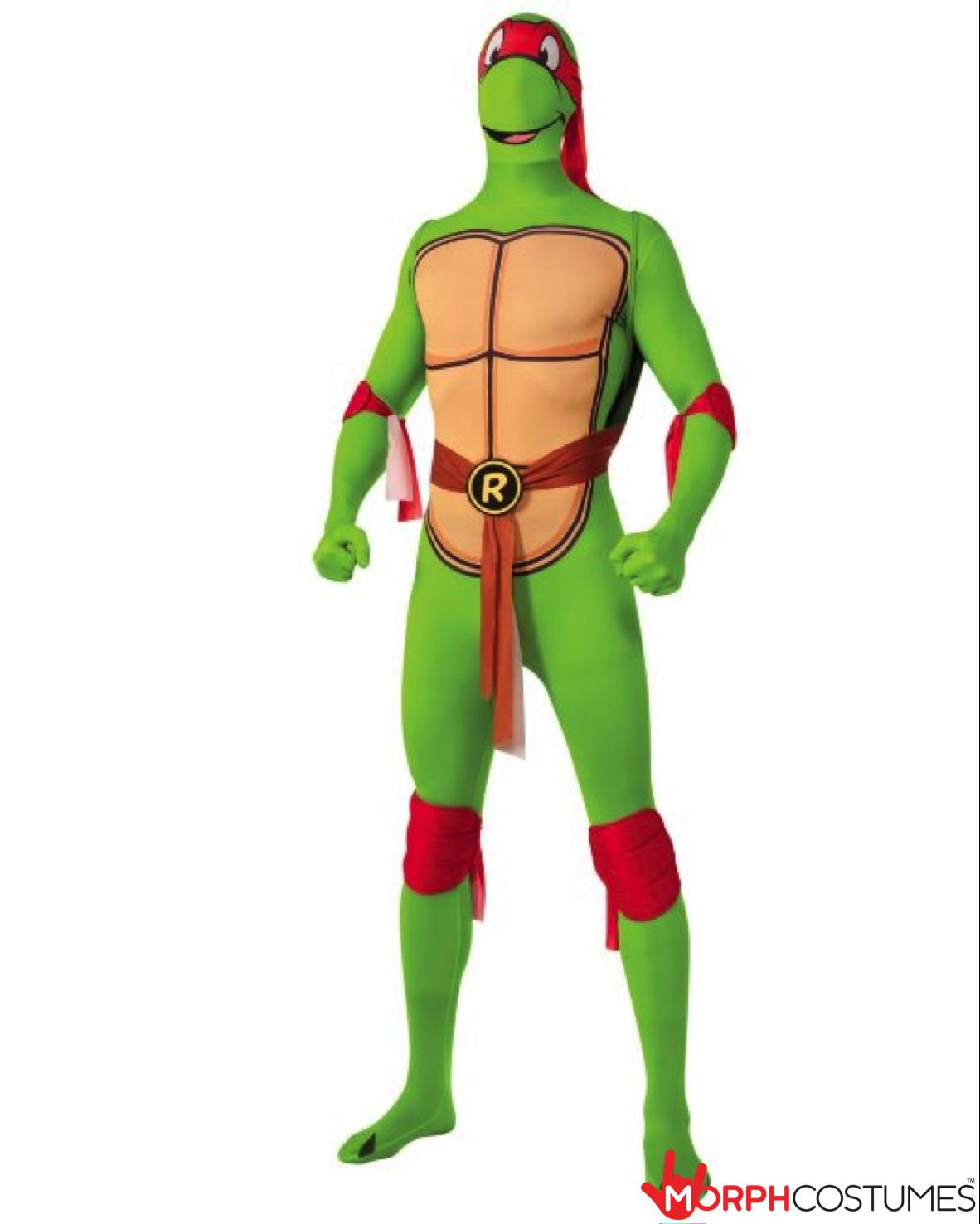 Mens Deluxe TMNT Teenage Mutant Ninja Turtles Raphael Red Superhero Costume