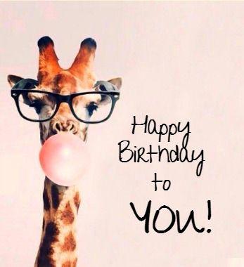 Happy Birthday Happy Birthday Wishes For A Friend Giraffe Happy Birthday Happy Birthday Pictures