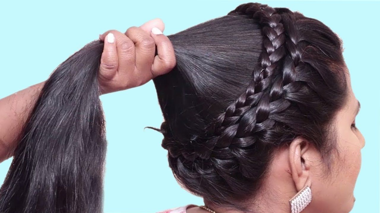 New Traditional Hairstyles For Saree Best Indian Hairstyles For Long Hair Hair Style Girl Youtube Long Hair Styles Traditional Hairstyle Hair Styles