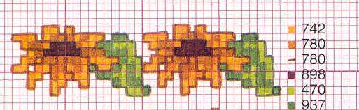 Schema punto croce Fiori Girasole piccolo