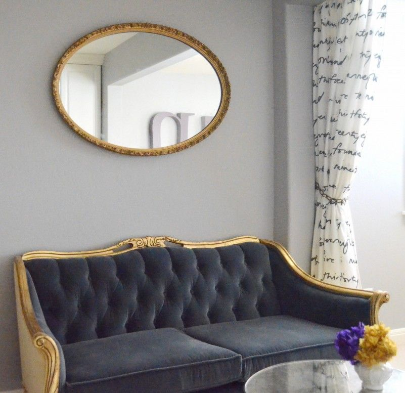 Comfy Black And Gold Sofa From Fabric Material And Wooden