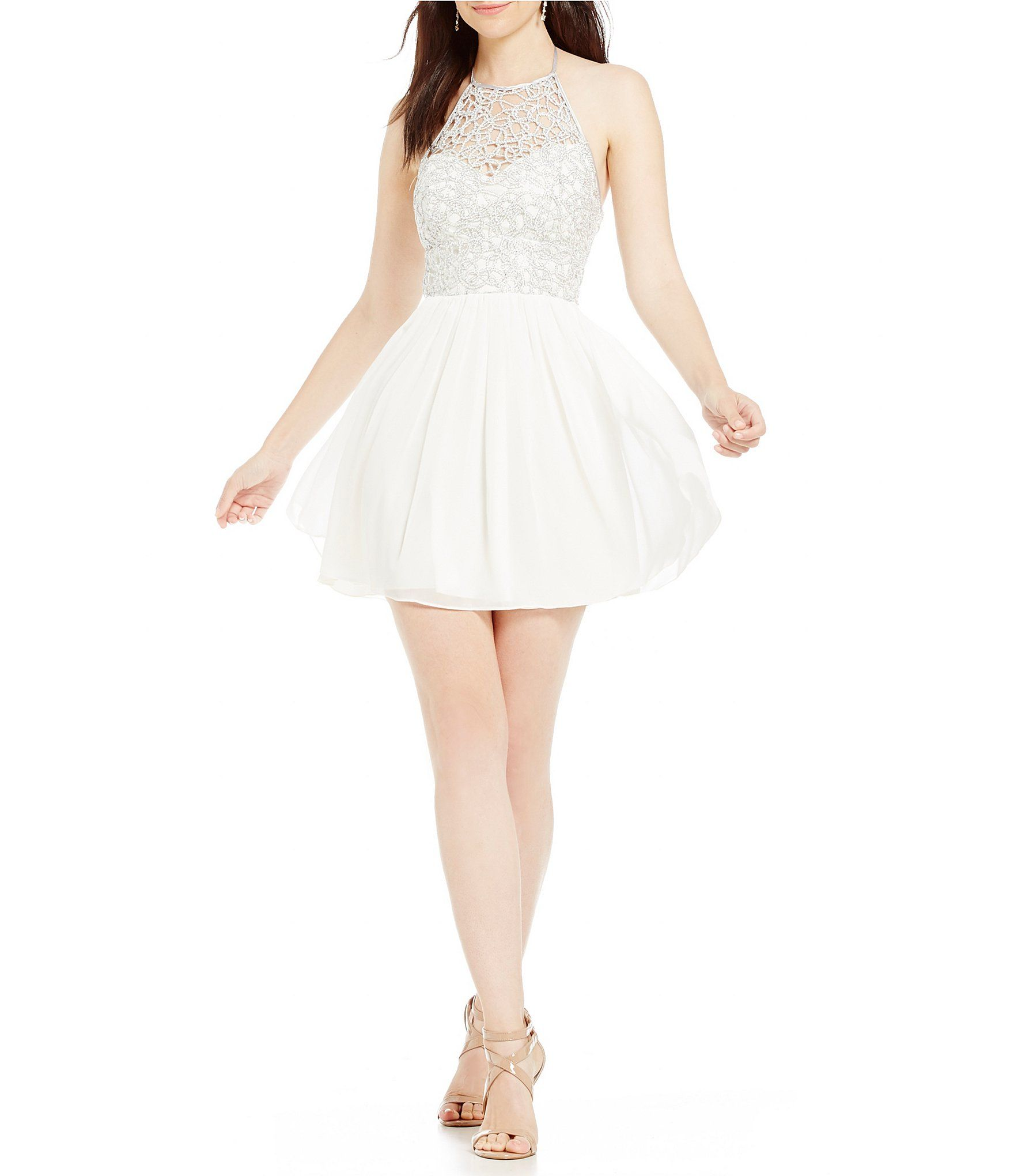 Shop for b darlin chain lace top color block dress at dillards