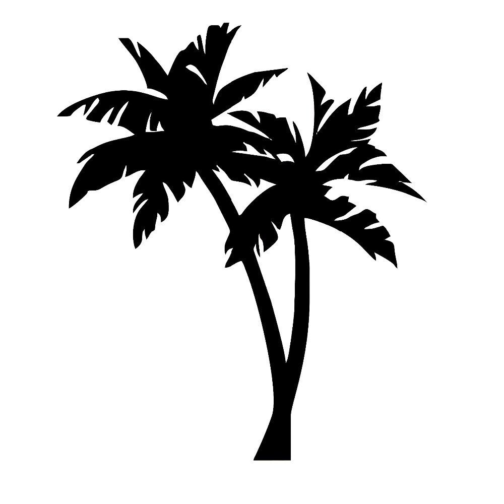 Palm Tree Vinyl Decal Tropical Decals Vinyl Car Stickers Art Bumper Tree Decor White Black L594 Car Stickers Aliexpress Palm Tree Silhouette Palm Tree Images Palm Tree Tattoo