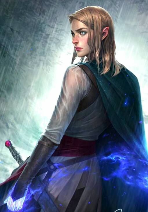 F Elf Wizard Sword Casting Traveler Throne Of Glass Throne Of Glass Series Character Portraits