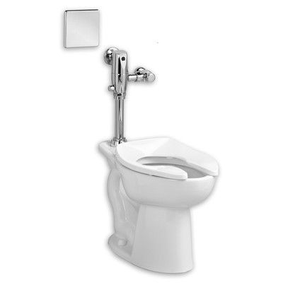 American Standard Madera Exposed Ac Select Flush Valve System 1 28 Gpf Elongated One Piece Toilet Seat Includ One Piece Toilets Flush Valves Commercial Toilet