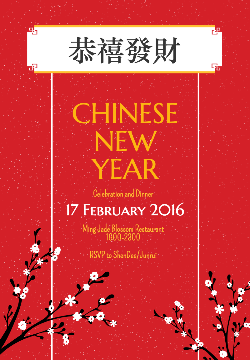 Use this Free poster template to create a beautiful Chinese New – New Year Poster Template