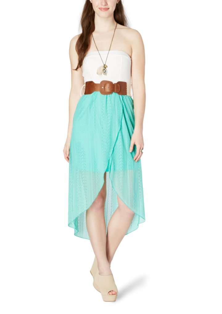 Belted Lace Bow Back Dress | High Low | rue21