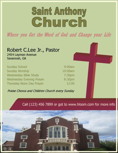 church information flyer template marketing flyers pinterest