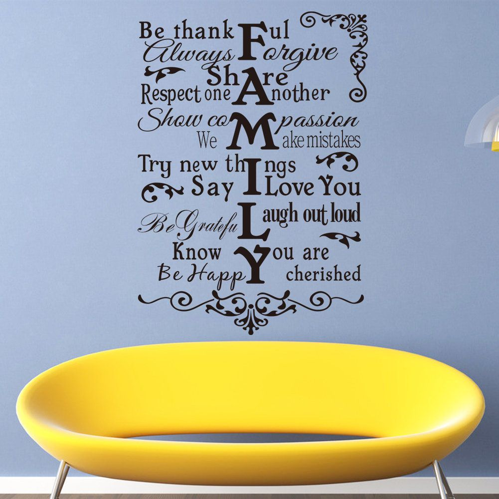 Aliexpresscom  Buy English Quotes Family Rules Vinyl Home - How to make vinyl wall decals at home