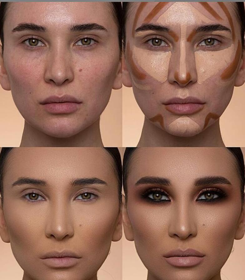 24 Perfect And Best Contour Highlight Makeup Tutorial For Beginners Highlighter Makeup Makeup Tutorial For Beginners Contouring And Highlighting