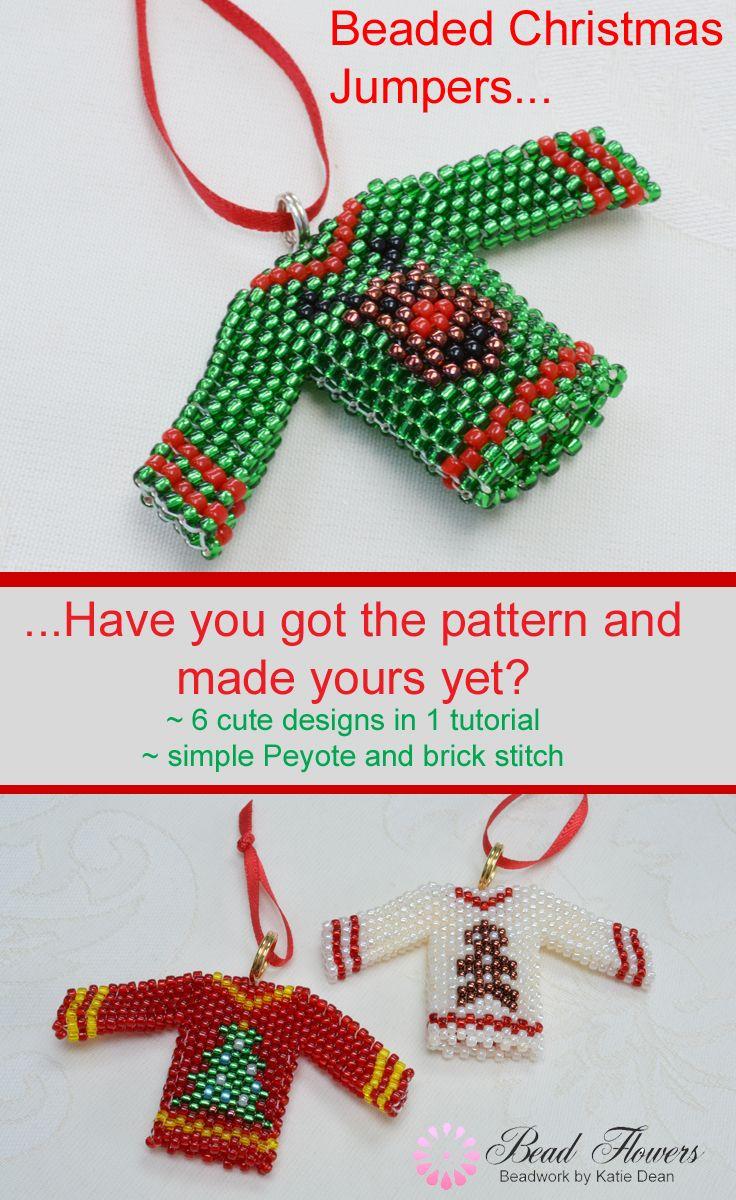 how to make christmas tree earringsusing brick stitch