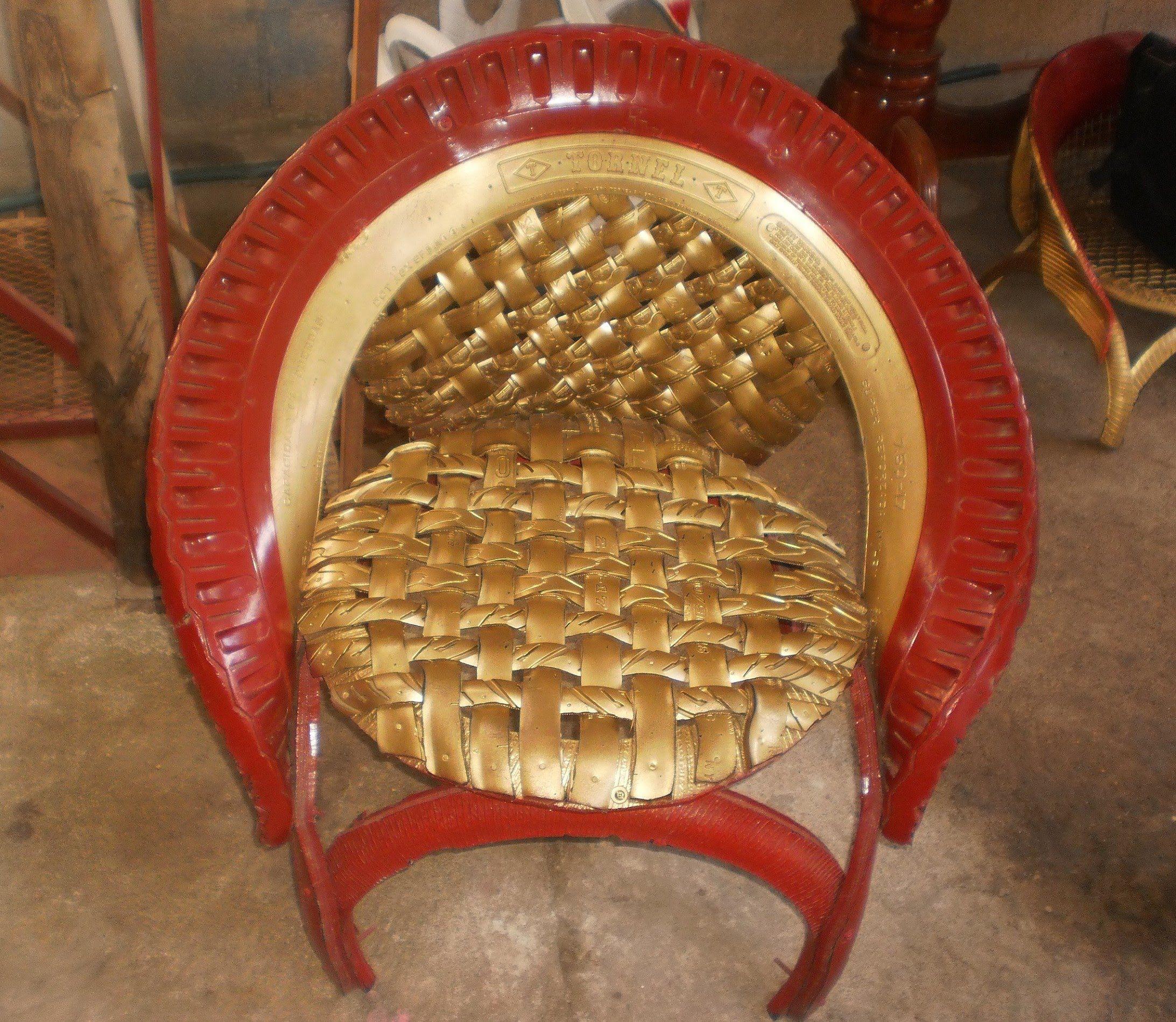 Muebles Hechos Con Llantas Usadas Procedimiento Old Tires  # Muebles Con Neum?ticos