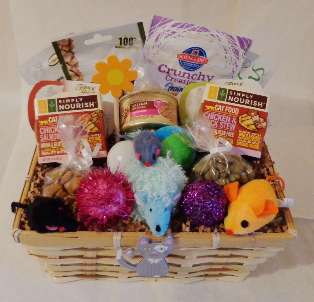 Toy Raffle Prizes : Cat gift basket treats toys personalized