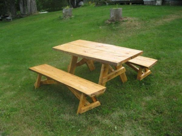 Rustic Picnic Table Custom Built Tables And Counter Tops
