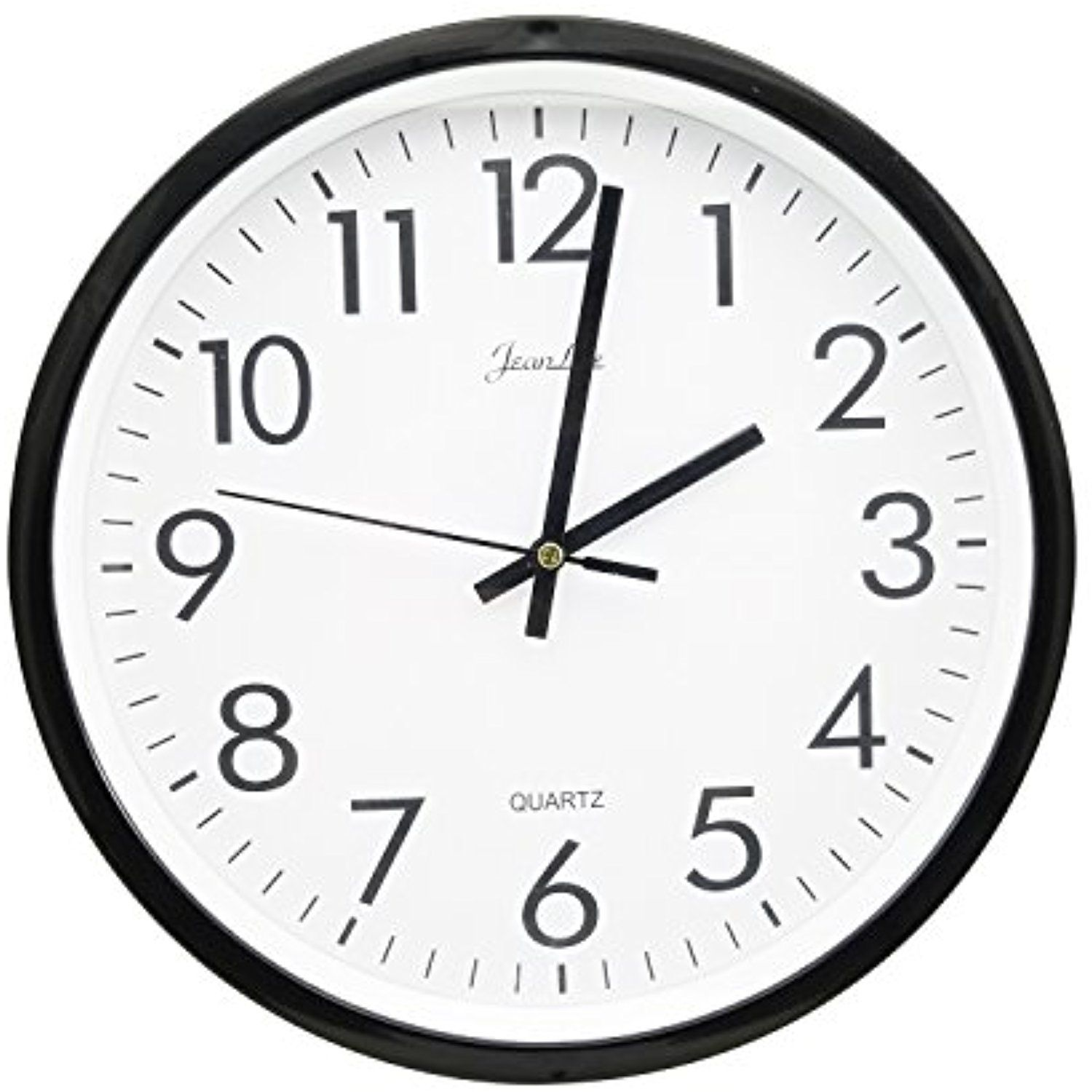 Dgq 10 Inch Black Wall Clock Silent Non Ticking Quality Quartz Battery Operated Round Easy To Read Home Office School Clock Black Wall Clock Clock Wall Clock