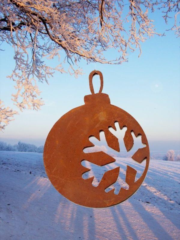 Rostiger Tannenbaum.Baumschmuck Weihnachtskugel Edelrost Anhänger Weihnachtsbaum