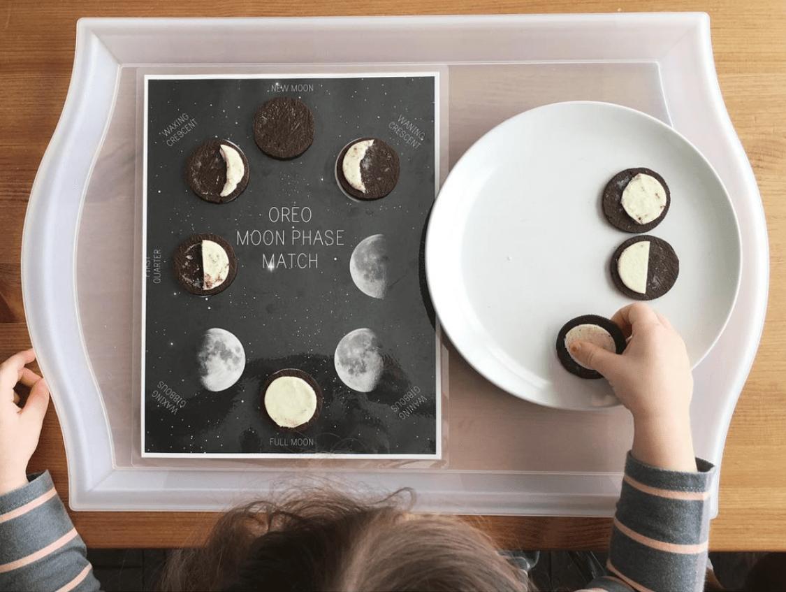Oreo Moon Phase Match Printable