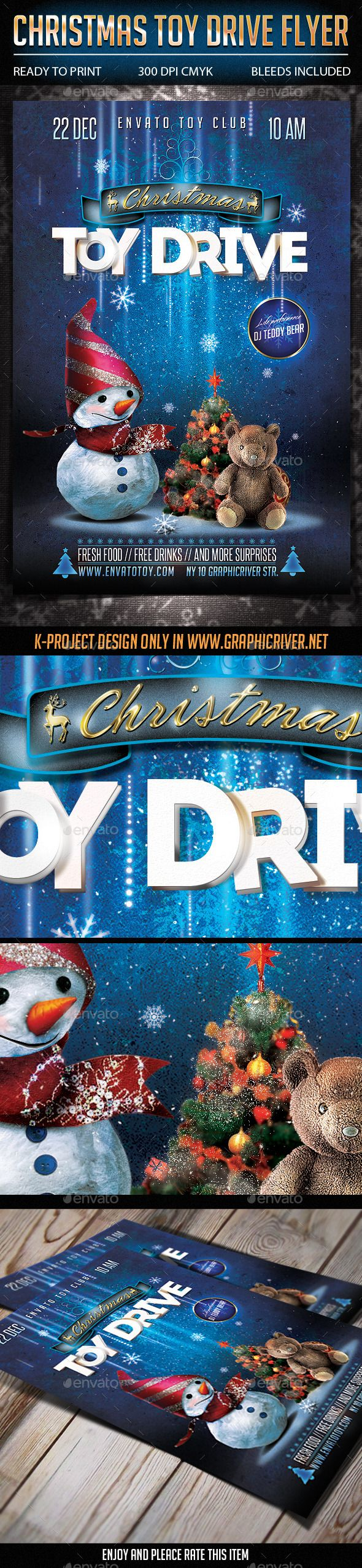 christmas toy drive flyer flyer template toys and design christmas toy drive flyer template psd buy and