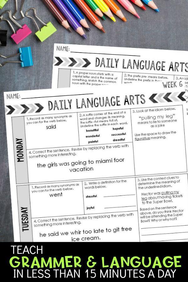 Rd Grade Daily Ela Week Bundle For Writing  Language
