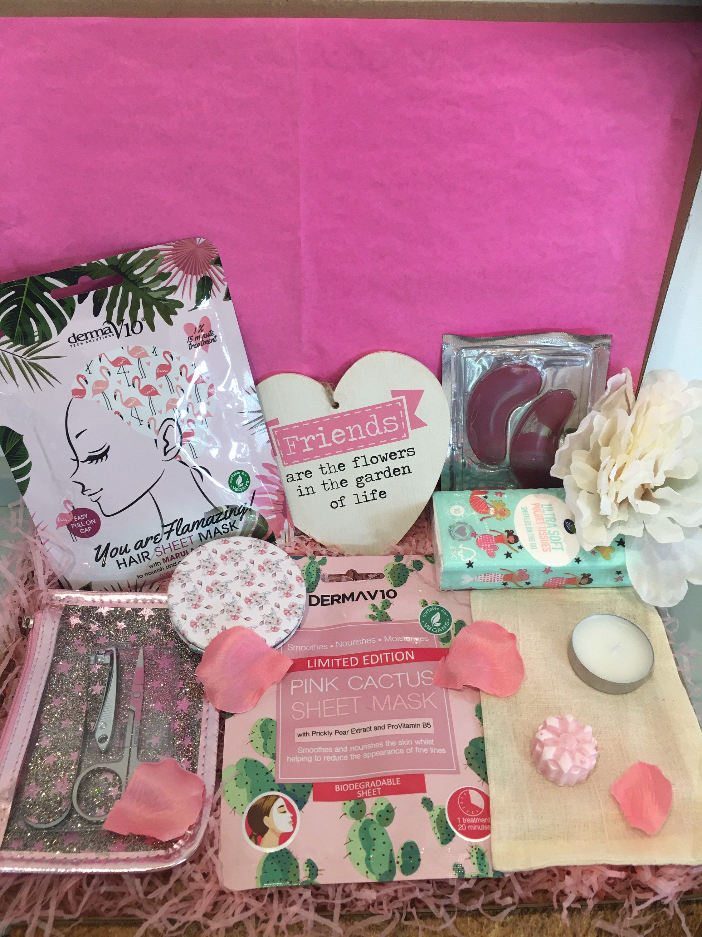Pamper self care letterbox gift for friend birthday